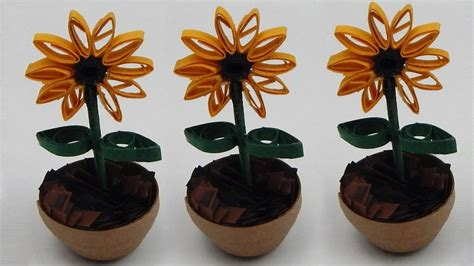 quilling sunflower tutorial how to make a miniature quilling sunflower diy tutorial