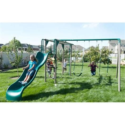 lifetime swing sets lifetime products monkey bar swing set outdoors pinterest