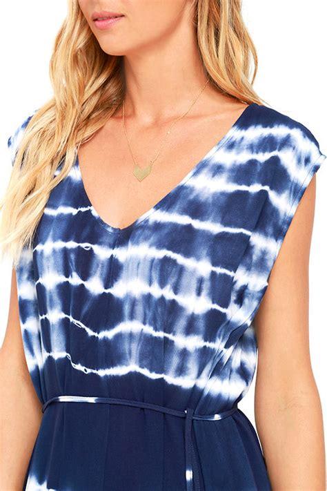 Dress Aliza Navy black swan alisa navy blue dress tie dye dress 83 00