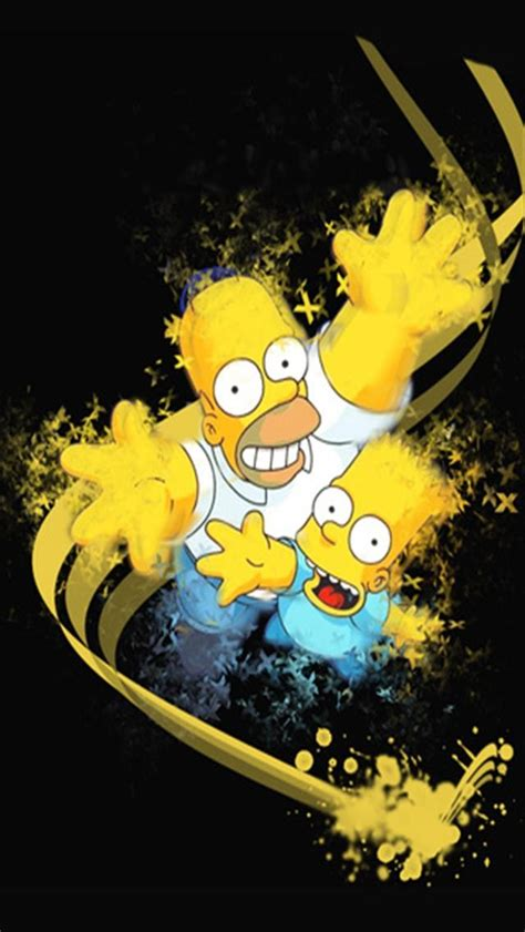wallpaper iphone 5 simpsons bart and homer simpson abstract iphone wallpapers iphone