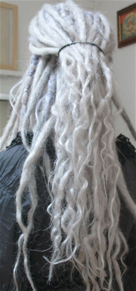 dreadlocks with gray hair grey dreads with pale purple bits love it hair