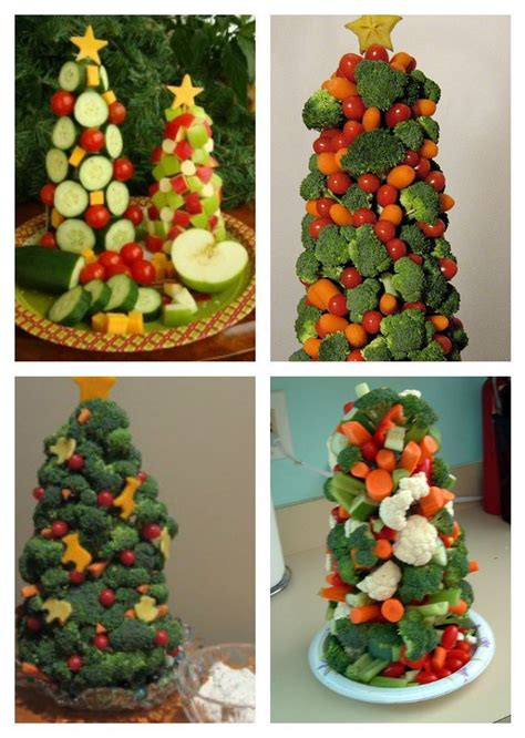 veggie christmas trees party ideas pinterest