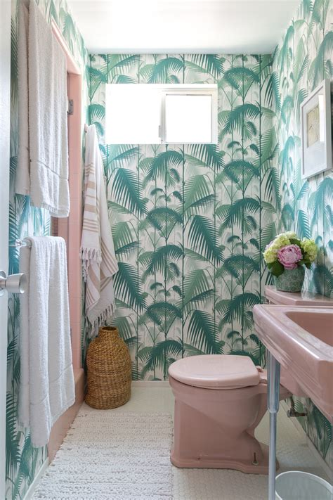 palm tree bathroom palm leaf wallpaper in bathroom wallskid