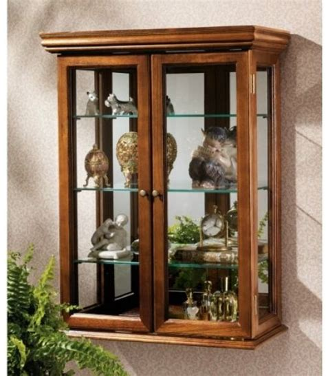 wall mount curio cabinet wall mount curio cabinet wood tuscan display storage