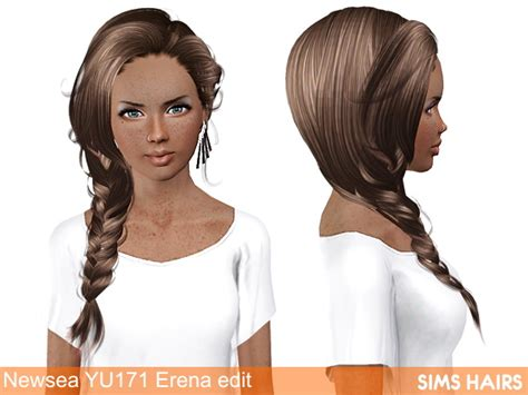 fly sims 121 af hairstyle retextured by sims hairs for sims 3 newsea s yu171 erena hairstyle af retextured by sims hairs