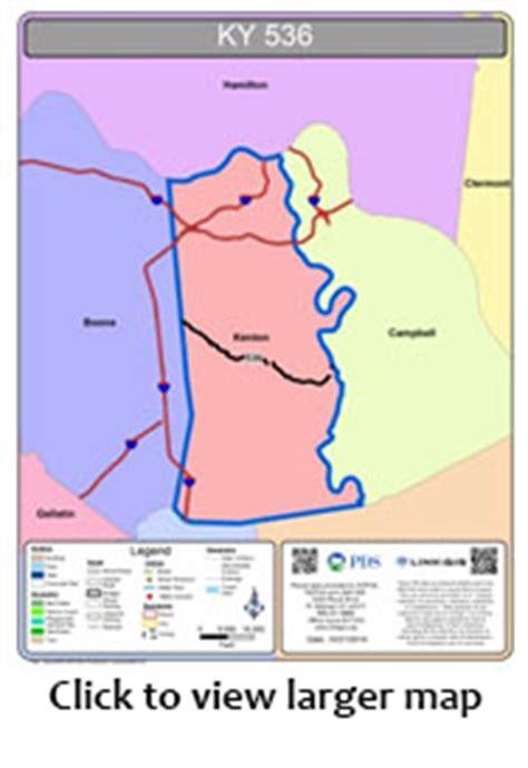 kentucky map linking study ky 536 study