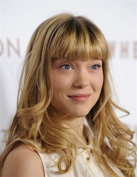 lea seydoux bangs lea seydoux in quot somewhere quot premiere zimbio