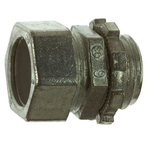 Conduit Tc 6 steel city 1 2 in emt compression connector of 50 tc 211 sc the home depot