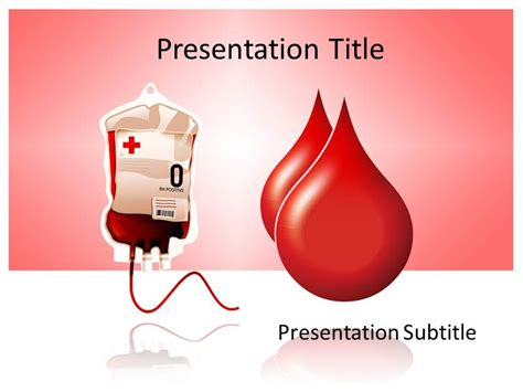Blood Donation Powerpoint Template Background Of Blood Drop Blood Ppt Templates Free