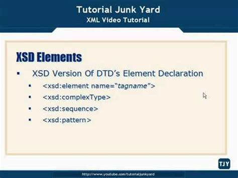 xml tutorial element xml tutorial 33 xsd schema elements youtube