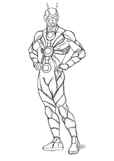 ant man redesign sketch by guygar79 on deviantart