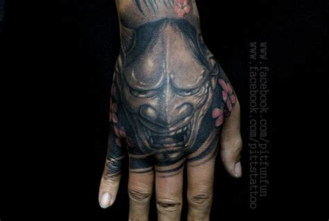 japanese tattoo on hand 41 best hannya mask tattoos images on pinterest