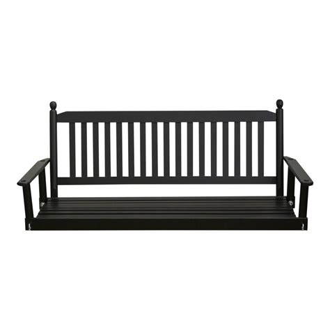 porch swing black black 5 ft porch patio swing 205psbf rta the home depot