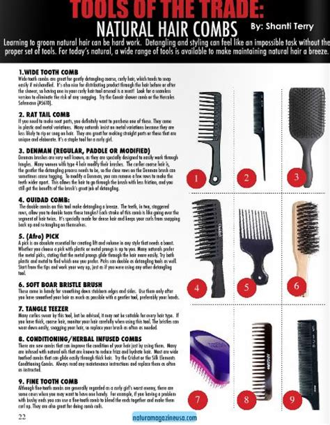 Types Of Hair Combs And Their Uses by Not Sure Which Combs Are Best For Your Hair Type And