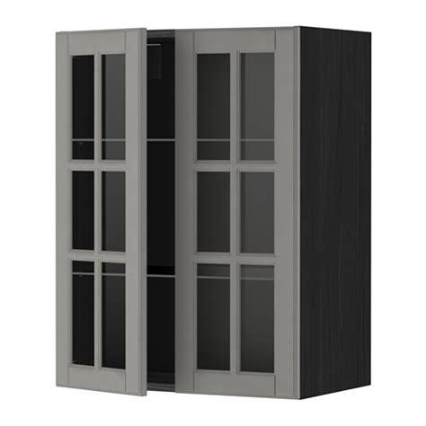 Rak Dinding Kaca metod kabinet dinding dg rak 2 pintu kaca efek kayu