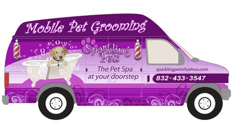 local mobile groomers sparkling pets mobile pet spa grooming