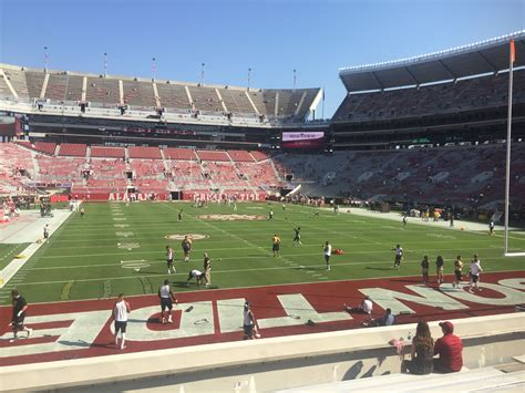 bryant denny stadium student section bryant denny stadium section s7 rateyourseats com