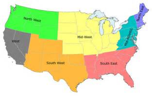 us map divided into 3 regions regionen der usa studieren in usa informationen zum