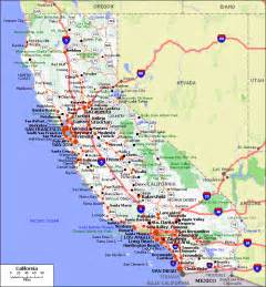 map of of california maps of california