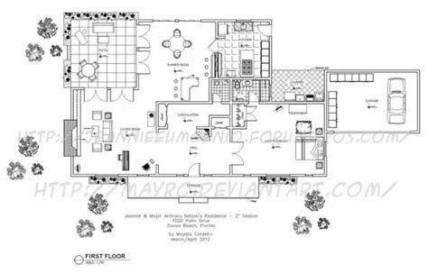 nelson house plans floor plan for major anthony nelson s house quot i dream of jeannie quot architecture ideas