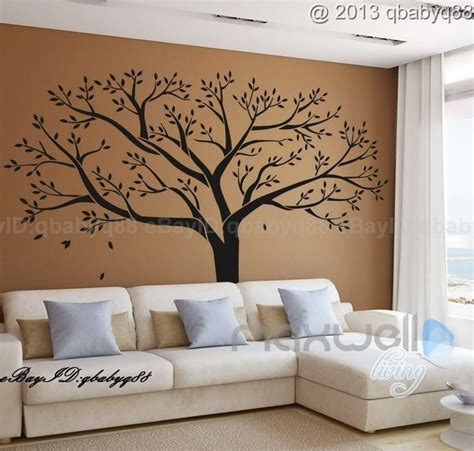 home decor vinyl wall art giant family tree wall sticker vinyl art home decals room decor mural branch ebay