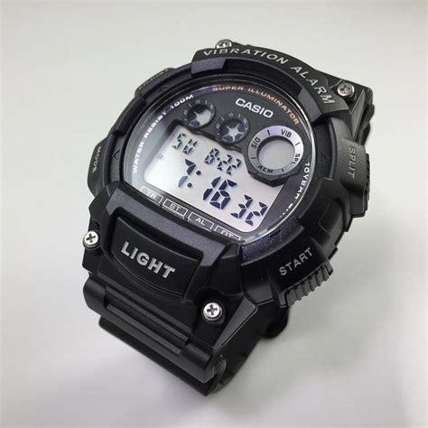 Casio W735h casio vibration alarm digital sports w735h 1av