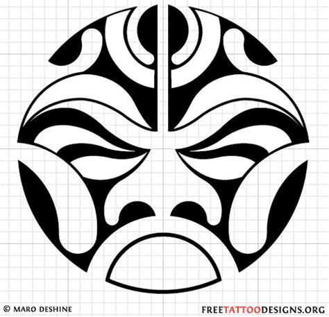 polynesian sun tattoo stencil