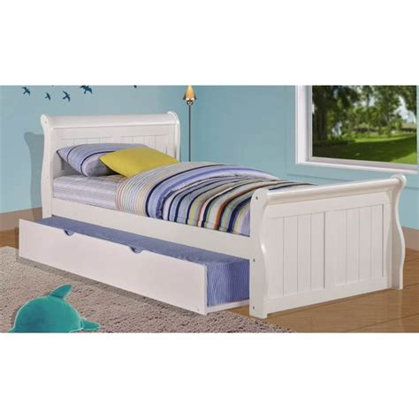 White Bed With Trundle by Sleigh Bed With Trundle Bed In White Walmart