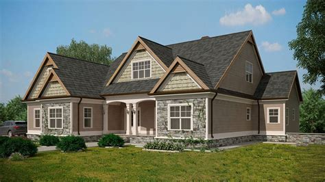 Craftsman Style House Plans With Walkout Basement Craftsman Style Lake House Plan With Walkout Basement