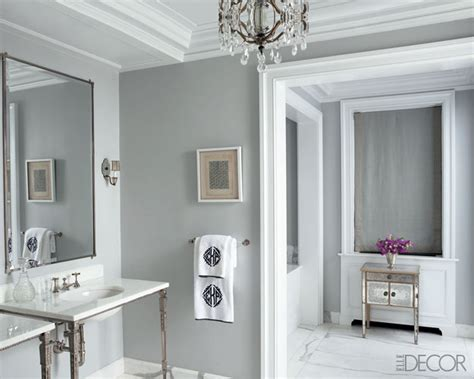 white bathroom with color accents gray bathroom transitional bathroom elle decor