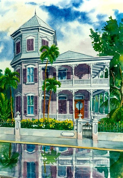 artist house historic houses of key west artwwork by g k salhofer