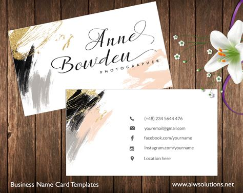 call card templates business card aiwsolutions