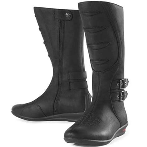 womens tall motorcycle boots icon women s sacred tall motorcycle boots bikebandit com