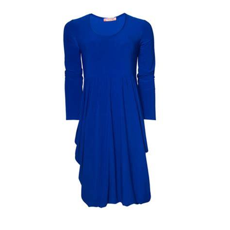 yukita plain dress blue flam mode plain royal blue dress