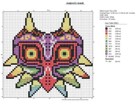 legend of zelda map cross stitch majora s mask pdf chart by amandineslx on deviantart
