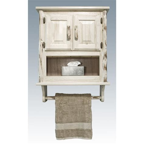White Bathroom Wall Cabinet Rustic White Stained Walnut Wood Wall Cabinet With Towel Rack Of Mesmerizing Bathroom Wall