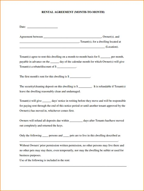28 free simple lease agreement template doc 604804