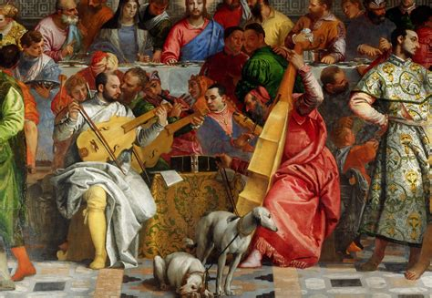 Wedding Feast At Cana Tintoretto by File Paolo Veronese The Marriage At Cana Detail