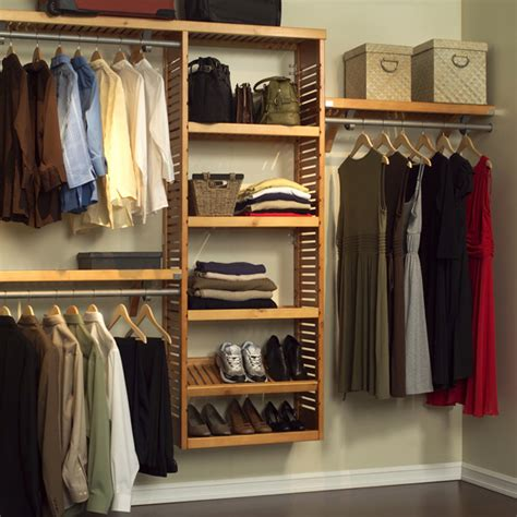 Wood Closet System by Louis Home Wood Premier Closet Organizer System