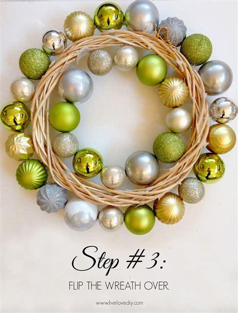 ornament wreaths livelovediy how to make a ornament wreath
