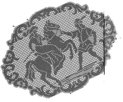 centro tavola uncinetto uncinetto artistico centrotavola con cavaliere punti e