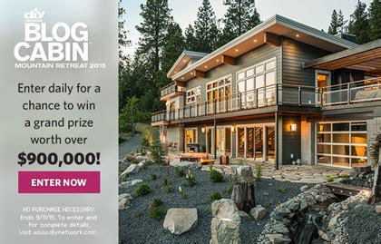 how to win blog cabin 2015 autos post - Blog Cabin Sweepstakes Entry