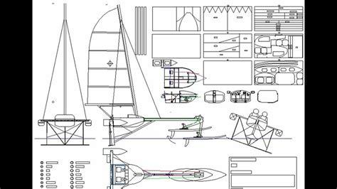 hydrofoil rc boat plans hydrofoil sailboat design montage quot valkyrie quot youtube