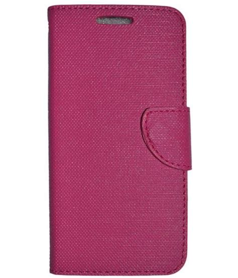 Zagbox Flip Cover Lenovo A6600 Pink lenovo a6600 plus flip cover by colorcase pink flip