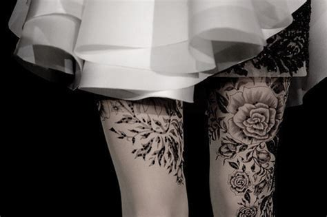 black and white rose thigh tattoos black and white dress image 328662