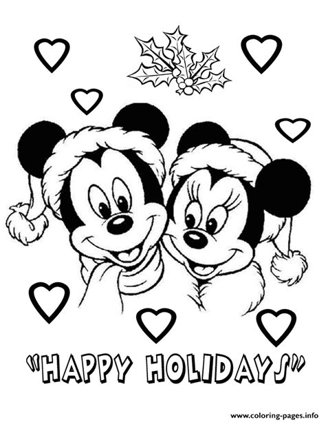 mickey mouse santa coloring pages mickey and minnie wearing santa hat disney coloring pages