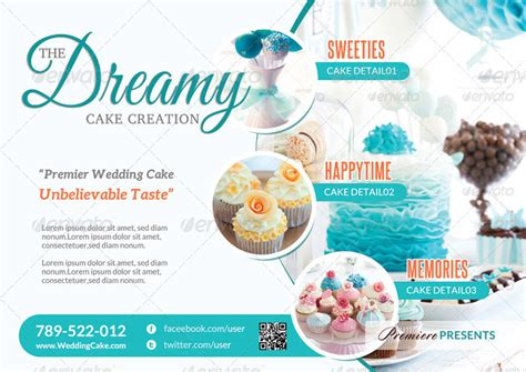 Cake Flyer Template Free Yourweek 4f5dc9eca25e Cake Brochure Template Free
