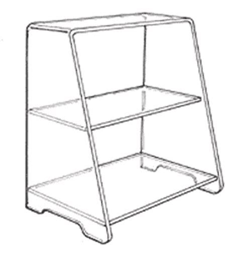 acrylic counter top shelf units