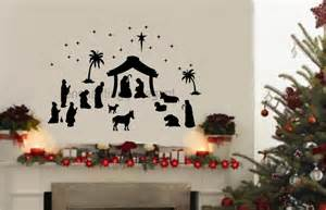 Quote Wall Stickers Uk 36 piece large nativity set vinyl decal wall stickers