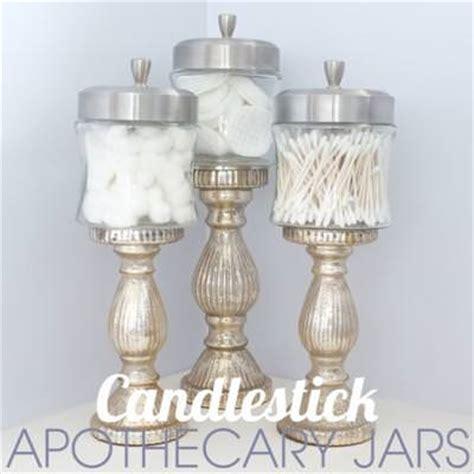 candlestick apothecary jars diy decorative jars tip junkie
